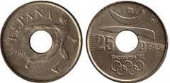 Испанская монета в  25 песет