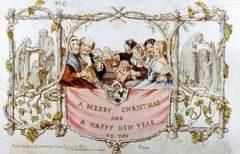 Так выглядела первая рождественская открытка, нарисованная Д. К. Хорсли