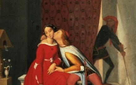 Картина Энгра на сюжет о Франческе и Паоло