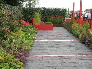 Сад «Красный ритм» дизайнер Lee Belgrau