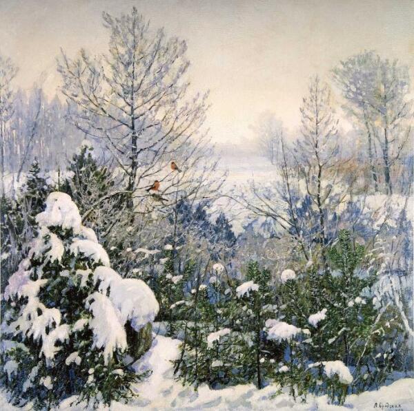 Л. И. Бродская, «Морозное утро», 1957 год
