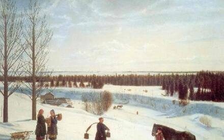 К. А. Коровин, «Зимний пейзаж», 1927 год