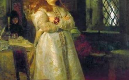 И. Е. Репин. Царевна Софья Алексеевна в Новодевичьем монастыре в 1698 году