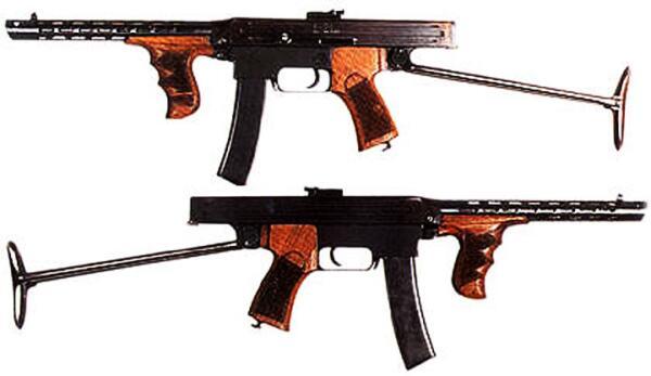 Экспериментальная модель пистолета-пулемета Калашникова образца 1942г.