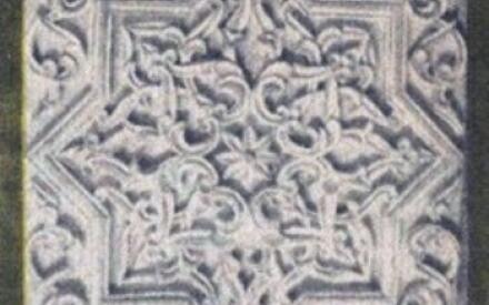 Настенные декоративные плиты из резного ганча