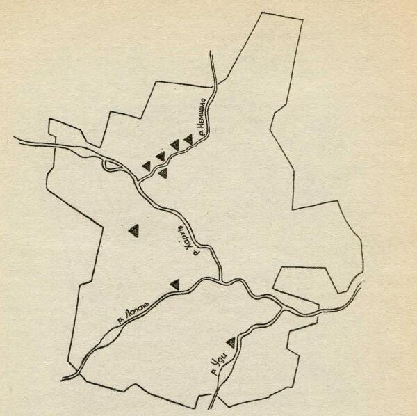 Карта-схема г. Харькова с местонахождениями