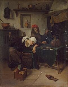 Из коллекции Гоцковского. Ян Стен. Гуляки. Около 1660 г.