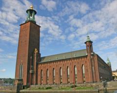 Стокгольм, Швеция. Знаменитый Сити Холл. По его лестницам поднимаются Нобелевские лауреаты...