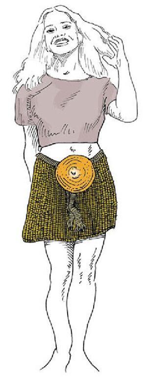 Реконструкция одежды Девушки из Эгтведа (ru.wikipedia.org, автор FinnWikiNo)
