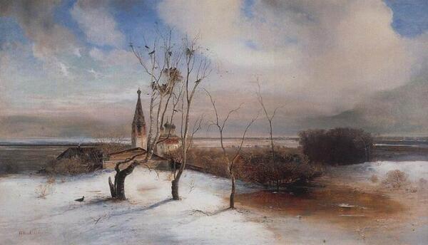 А. Саврасов «Весна. Грачи прилетели»