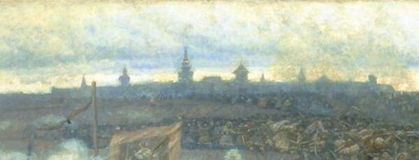 Крепость на горизонте. Фрагмент картины