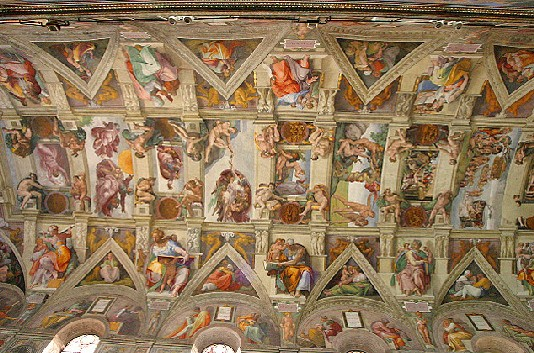 Микеланджело роспись свода