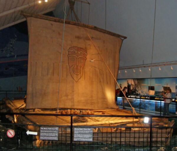 Плот в Музее Кон-Тики в Осло, Норвегия