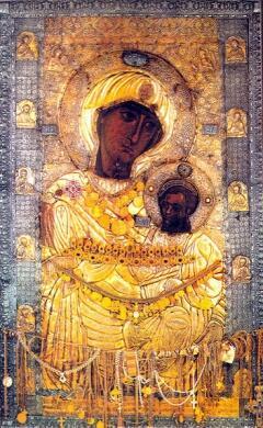 Икона из Иверского монастыря на горе Афон, Греция (Фото: Zetalion, en.wikipedia.org)