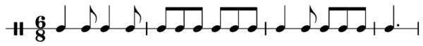 Типичный ритм тарантеллы