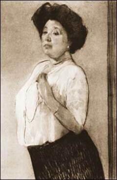 Н.Ламанова. Портрет В. Серова.