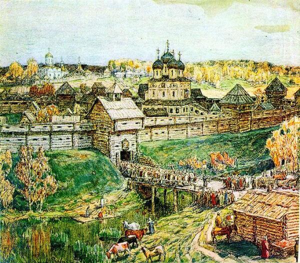 Дмитров в XVI веке (Худ. А.М. Васнецов)