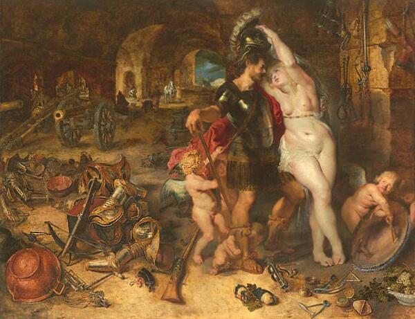 П. Рубенс, «Марс, разоруженный Венерой»