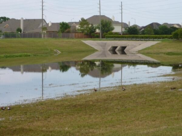 Байо для стока дождевых вод в нашей деревне.