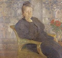 Сельма Лагерлёф, портрет Карла Ларссона (фрагмент), 1908 год