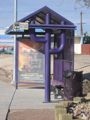 Типовая автобусная остановка в Тусоне