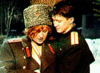 Актеры И. Розанова и Е. Миронов (
