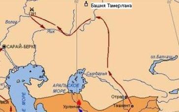 Поход против Тохтамыша в 1391г. (Ю. Тумковский «Всемирная история в лицах»)