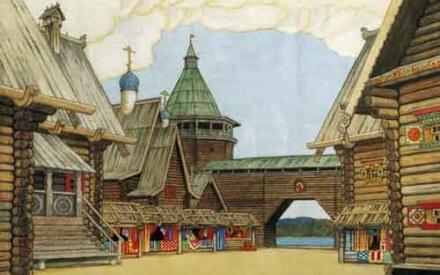 Декорации к«Невидимому граду Китежу» (И.Я. Билибин)