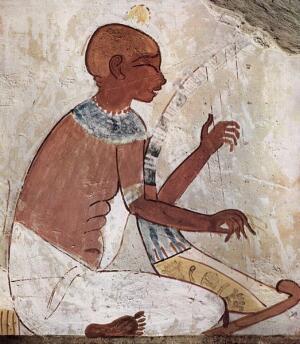 Слепой арфист (Надгробие, 2040-1640 до нашей эры, en.wikipedia.org)