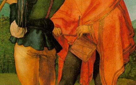 Трубач и барабанщик (А. Дюрер, Кёльнский музей)