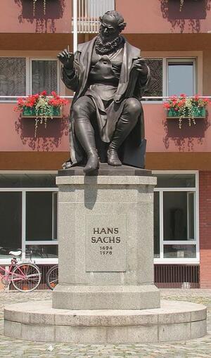Памятник Гансу Саксу в Нюрнберге