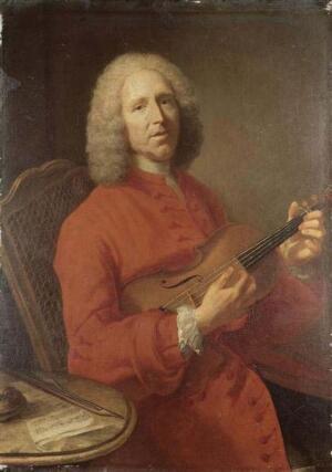 Жан-Филипп Рамо со скрипкой (портрет работы Жака-Андре-Жозефа Аве, Музей искусств, Дижон)