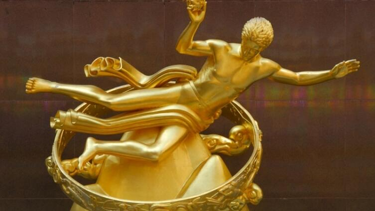 Статуя Прометея в центре Рокфеллера, Нью-Йорк