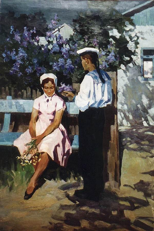 К. Ломыкин. Свидание. 1970 г.