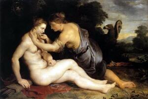 Рубенс: Каллисто, Юпитер и Диана. В чем вина Каллисто?