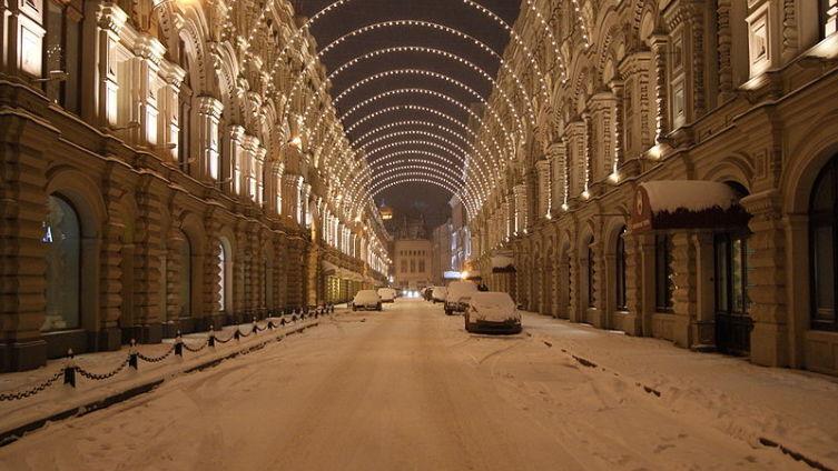 Ветошный переулок зимой