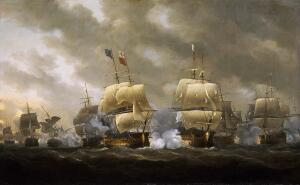 Николас Покок, «Битва в Квиберонском заливе», 1759 г.
