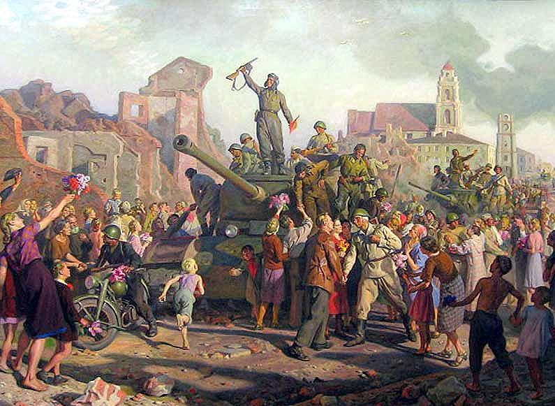 Картина В. Волкова, «Минск 3-го июля 1944 года»